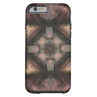 Mandala de color de malva mullida suave de la funda de iPhone 6 tough
