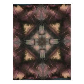 Mandala de color de malva mullida suave de la postal