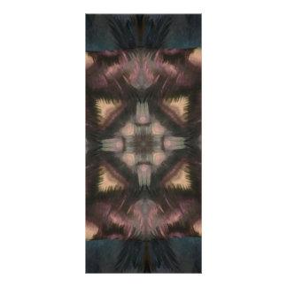 Mandala de color de malva mullida suave de la lona publicitaria