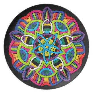 Mandala de colores plato