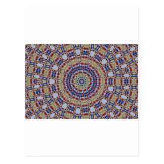 Mandala de componentes multicolores de plástico postal
