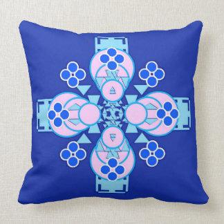 Mandala de cuatro puntos - orquídea, azul y almohadas
