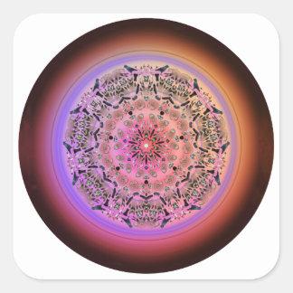 Mandala de Dreamcatcher - productos múltiples Pegatinas Cuadradas