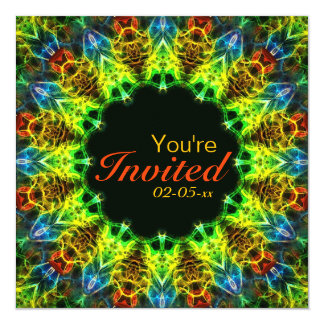 "Mandala de Halloween Invitación 5.25"" X 5.25"""
