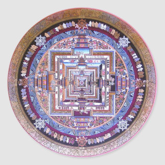 Mandala de Kalachakra Pegatina Redonda