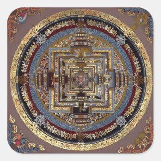 Mandala de Kalachakra pegatinas Pegatina Cuadrada