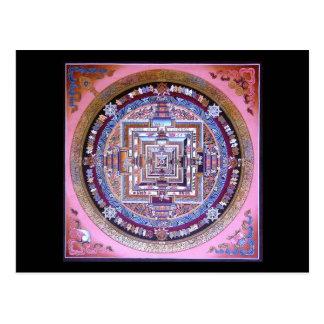 Mandala de Kalachakra Tarjeta Postal