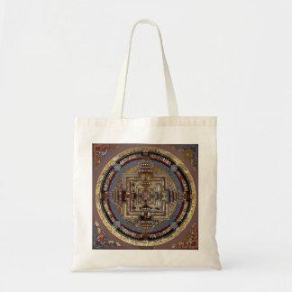 Mandala de Kalachakra un bolso Bolsa Tela Barata