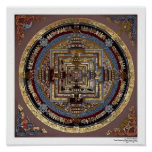 Mandala de Kalachakra un poster