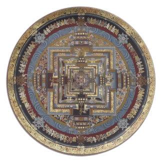 Mandala de Kalachakra una placa Plato De Cena