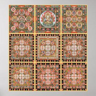 Mandala de Kongokai Póster