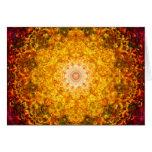 Mandala de la abundancia tarjeta de felicitación