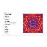 Mandala de la acuarela de la puesta del sol del ba tarjetas de negocios