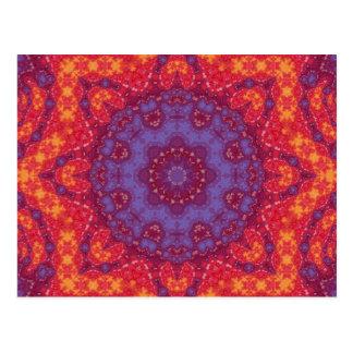 Mandala de la acuarela de la puesta del sol del postales