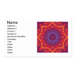 Mandala de la acuarela de la puesta del sol del tarjetas de visita