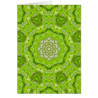 Mandala de la acuarela de la verde lima tarjeta pequeña