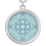 Mandala de la acuarela del verde azul joyerias personalizadas