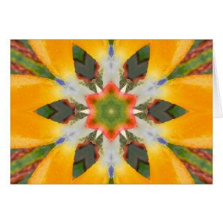 Mandala de la ave del paraíso tarjeta de felicitación