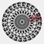 Mandala de la bicicleta de la pista pegatinas redondas