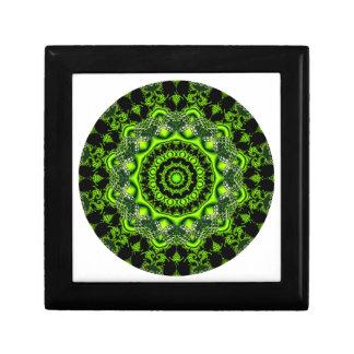 Mandala de la bóveda del bosque, maderas verdes ab caja de joyas