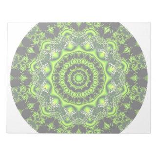 Mandala de la bóveda del bosque, maderas verdes bloc de notas