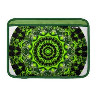 Mandala de la bóveda del bosque, maderas verdes fundas macbook air
