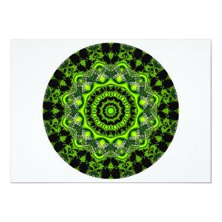 Mandala de la bóveda del bosque, maderas verdes invitacion personalizada