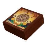 Mandala de la caja de regalo de dos pavos reales