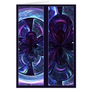 Mandala de la deformación del disco - el doble ech tarjeta de felicitación
