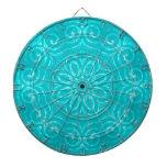 Mandala de la energía - aguamarina tablero de dardos