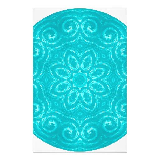 Mandala de la energía - aguamarina papelería de diseño