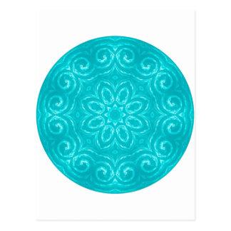 Mandala de la energía - aguamarina postal
