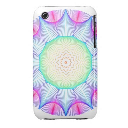 Mandala de la energía del ángel, extracto que bril iPhone 3 Case-Mate fundas