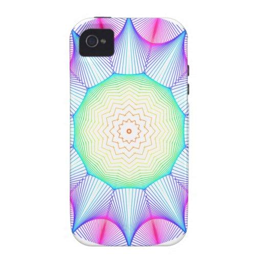 Mandala de la energía del ángel, extracto que bril iPhone 4/4S carcasa