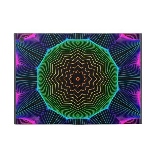 Mandala de la energía del ángel, magenta abstracta iPad mini protector