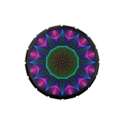 Mandala de la energía del ángel, magenta abstracta jarrones de dulces