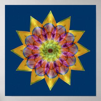Mandala de la estrella de Floramoeba Posters