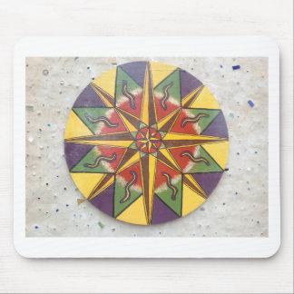 Mandala de la estrella de la protección mousepad