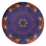 Mandala de la estrella y de la mariposa platos