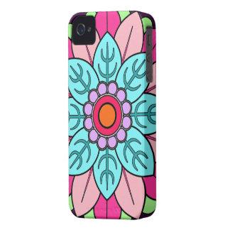 Mandala de la flor carcasa para iPhone 4