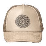 Mandala de la flor con la semilla de la vida gorras de camionero