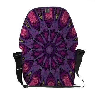 Mandala de la flor de la bolsa de mensajero bolsas de mensajería