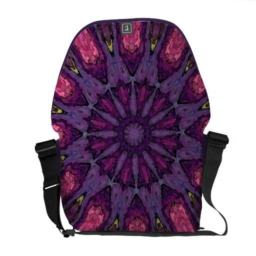 Mandala de la flor de la bolsa de mensajero bolsas messenger