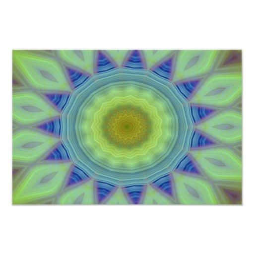 Mandala de la flor/de la estrella fotografía