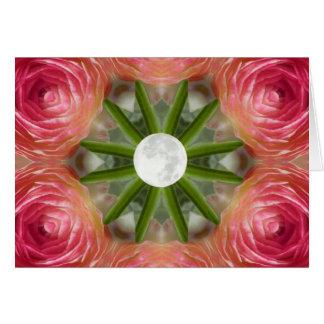 Mandala de la flor de la Luna Llena Felicitacion