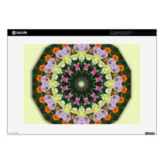 Mandala de la flor de los tulipanes, calcomanía para portátil