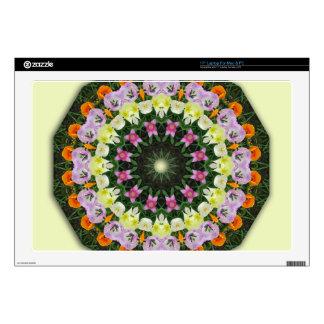 Mandala de la flor de los tulipanes, skins para portátiles