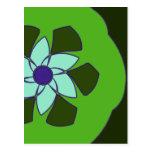 Mandala de la flor de Passionfruit Tarjeta Postal