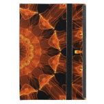 Mandala de la flor del fuego, llama ambarina abstr iPad mini protector
