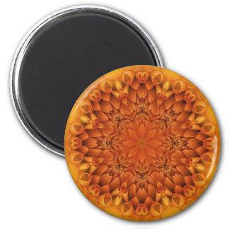 Mandala de la flor imán para frigorifico
